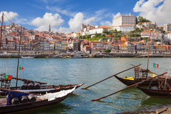 Panorama of old Porto Stock Images