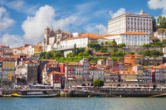 Panorama of old Porto Stock Photography