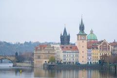 Panorama of an old Prague Stock Photography