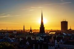 Panorama of Old Riga Stock Image