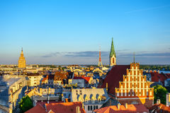 Panorama of Old Riga Royalty Free Stock Images