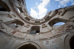 Panorama of old ruin old Krzyztopr Castle in Ujazd Royalty Free Stock Photos