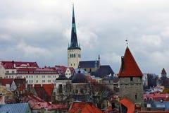 Panorama of old Tallinn, Estonia, Europe Royalty Free Stock Image