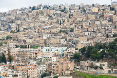 Panorama of old town Amman Royalty Free Stock Photography