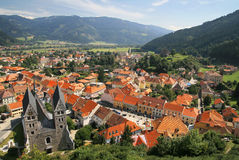 Panorama of old town in Austria Stock Photos