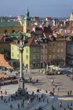 Panorama of Old Town and Castle Square, Warsaw Royalty Free Stock Photos