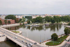 Panorama of old town cityscape, Wroclaw Stock Photo