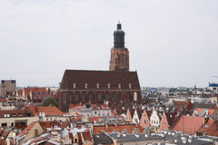 Panorama of old town cityscape, Wroclaw Royalty Free Stock Image