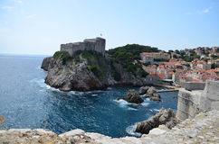 Panorama  of the old town of Dubrovnik Stock Image