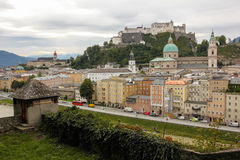 Panorama. Old town and fortress. Salzburg. Austria Royalty Free Stock Images