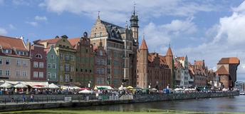 Panorama of the Old Town in Gdansk Royalty Free Stock Images