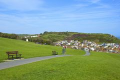 Panorama of Old Town in Hastings Royalty Free Stock Photography