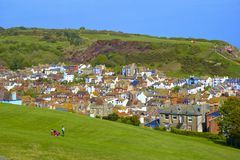 Panorama of Old Town in Hastings Royalty Free Stock Photos