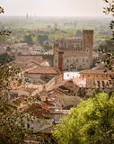 Panorama of the old town of Marostica famous for the Chess Squar Royalty Free Stock Photography