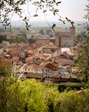 Panorama of the old town of Marostica famous for the Chess Squar Stock Photos