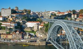 Panorama Old Town Porto Portugal Stock Photography