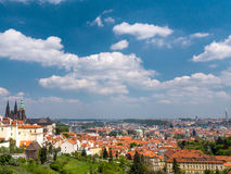 Panorama of Old Town and Prague Castle Stock Photos