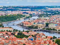 Panorama of the Old Town in Prague, Czech Republic.  Stock Photos