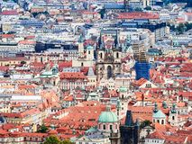 Panorama of the Old Town in Prague, Czech Republic.  Royalty Free Stock Photo