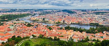 Panorama of the Old Town in Prague, Czech Republic.  Stock Photo