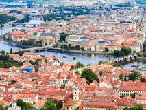 Panorama of the Old Town in Prague, Czech Republic.  Stock Images