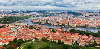 Panorama of the Old Town in Prague, Czech Republic.  Stock Image