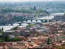 Panorama of Old Town Prague Stock Photo