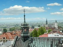 Panorama of old town Sandomierz Stock Photography