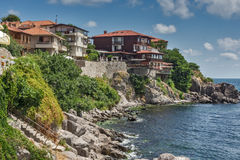 Panorama of old town of Sozopol, Bulgaria Stock Image