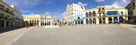 Panorama from the Old Town Square in Havana stock images