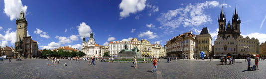 Panorama of Old Town Square in Prague Stock Photo