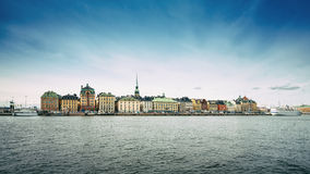 Panorama of Old Town in Stockholm Stock Image