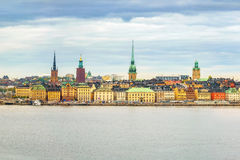 Panorama of the Old Town Stockholm Royalty Free Stock Photography
