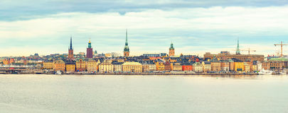 Panorama of the Old Town Stockholm Stock Photo
