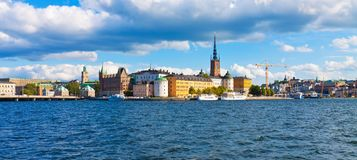 Panorama of the Old Town in Stockholm, Sweden Stock Image