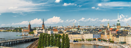Panorama Of Old Town Stockholm, Sweden Stock Photos