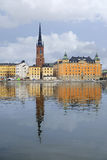 Panorama of an old town of Stockholm Royalty Free Stock Photo