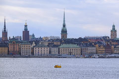 Panorama of an old town of Stockholm Stock Images
