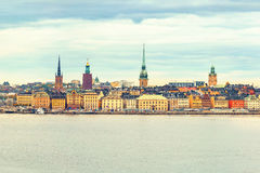 Panorama of the Old Town Stockholm Royalty Free Stock Images