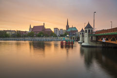 Panorama of Old Town in Szczecin (Stettin) City Stock Images