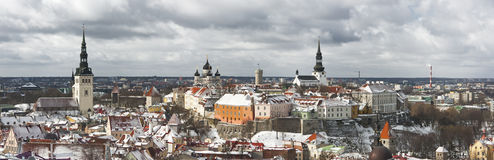 Panorama of the Old Town of Tallinn, Estonia Stock Photography