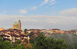 Panorama of old town of Veliko Tarnovo, Bulgaria Royalty Free Stock Photography