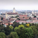 Panorama old town of Vilnius Stock Photography