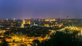 Panorama of the old town of Vilnius, Lithuania stock video footage