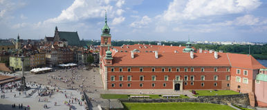 Panorama of the old town in Warsaw, Poland. Stock Image