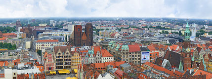 Panorama of the old town Royalty Free Stock Photo
