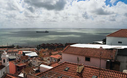 Panorama of old traditional city of Lisbon Royalty Free Stock Photos