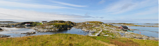 Panorama of old village of fishery Royalty Free Stock Images