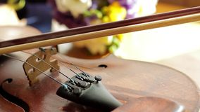 Panorama of the old violin. stock video footage