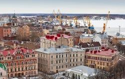 Panorama of old Vyborg Stock Photos